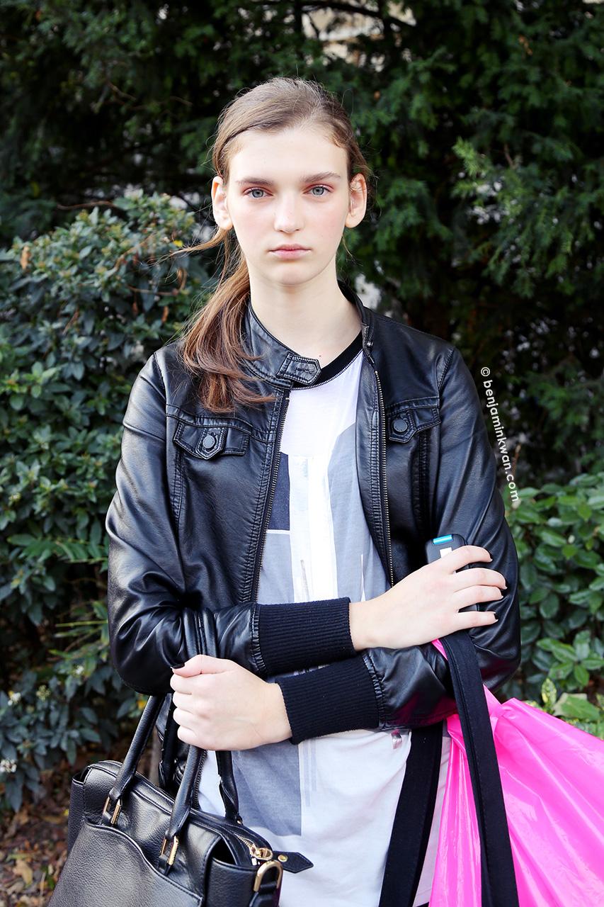 Anka Kuryndina at Chanel SS 2015 Paris Snapped by Benjamin Kwan     Paris Fashion Week