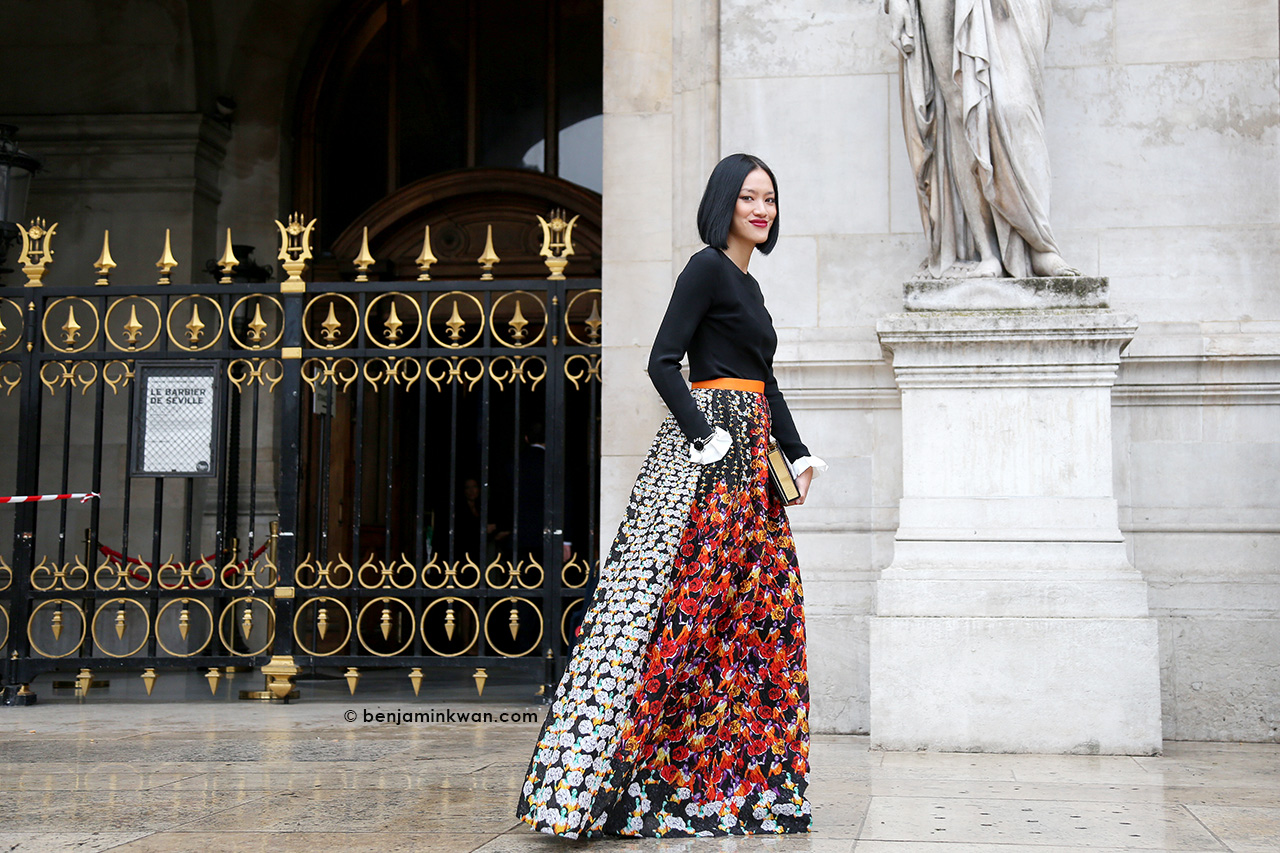 Tiffany Hsu at Stella McCartney SS 2015 Paris Snapped by Benjamin Kwan     Paris Fashion Week