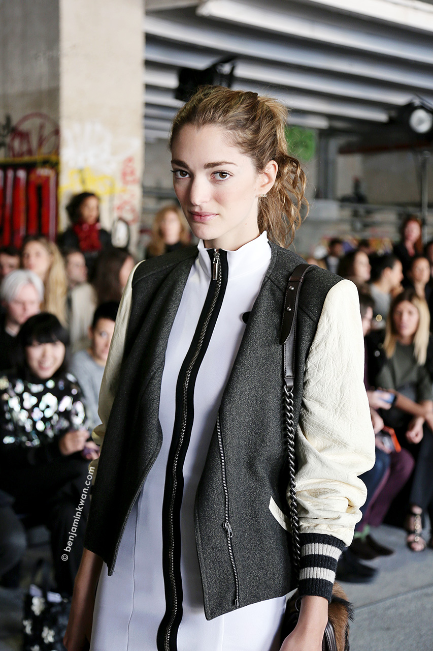 Sofia Sanchez-Barrenechea at Anthony Vaccarello SS 2015 Paris Snapped by Benjamin Kwan Paris Fashion Week