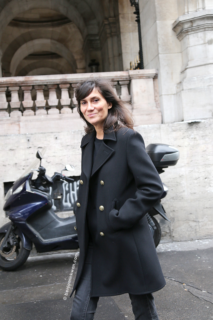 Emmanuelle Alt at Stella McCartney SS 2015 Paris Snapped by Benjamin Kwan Paris Fashion Week