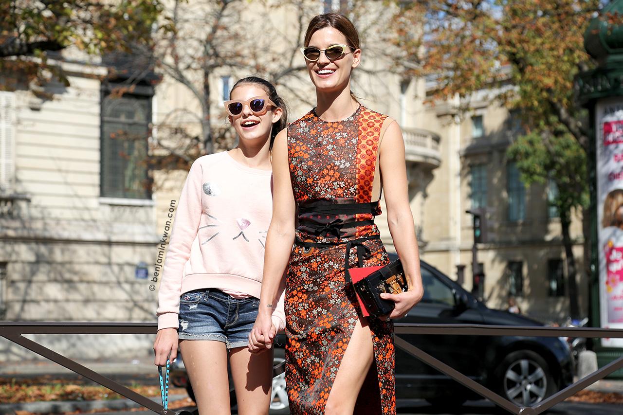 Hanneli Mustaparta at Miu Miu SS 2015 Paris Snapped by Benjamin Kwan     Paris Fashion Week