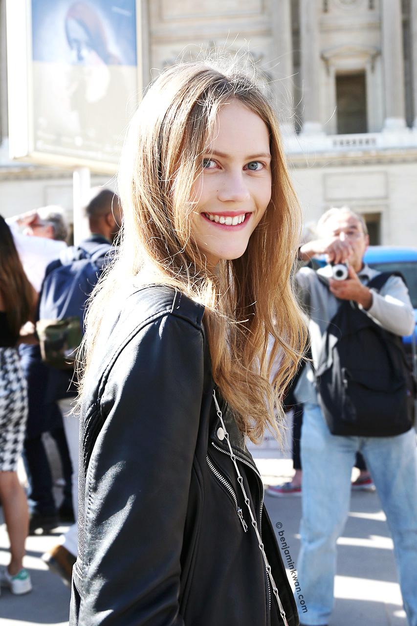 Julie Hoomans at Dior SS 2015 Paris Snapped by Benjamin Kwan     Paris Fashion Week