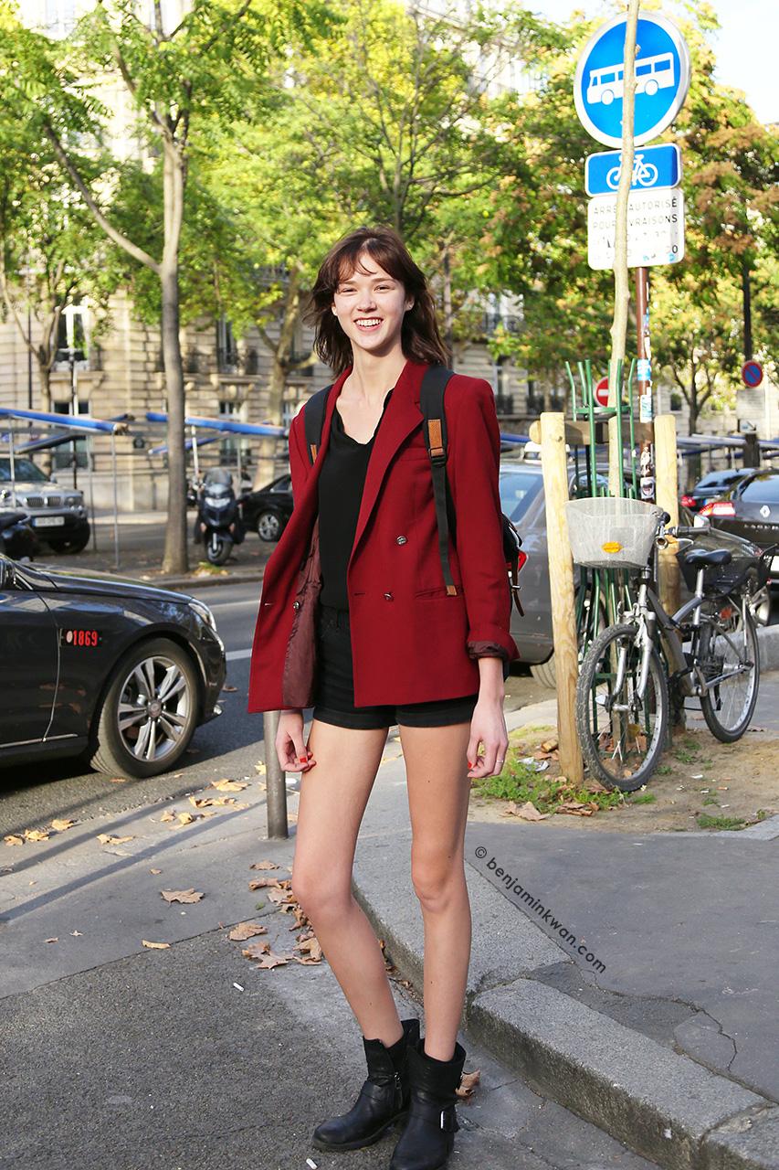 Mariah Morrison at Isabella Marant SS 2015 Paris Snapped by Benjamin Kwan     Paris Fashion Week