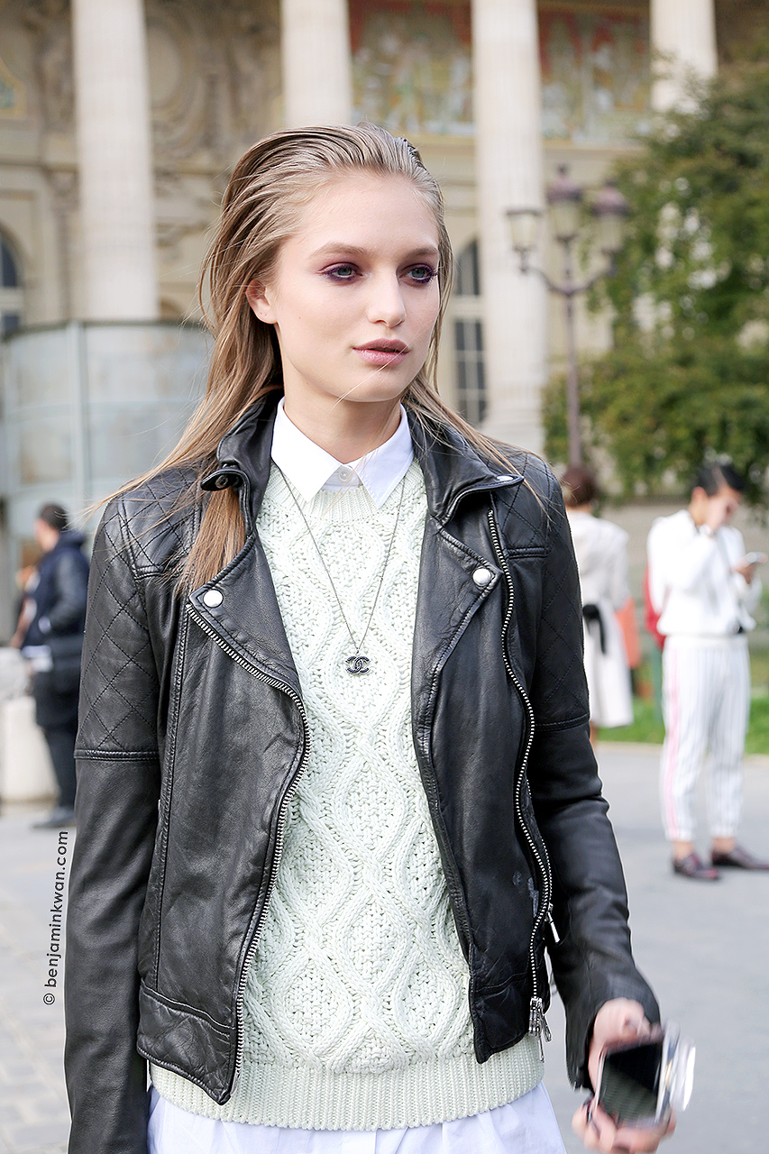 Svetlana Zakharova at Guy Laroche SS 2015 Paris Snapped by Benjamin Kwan     Paris Fashion Week
