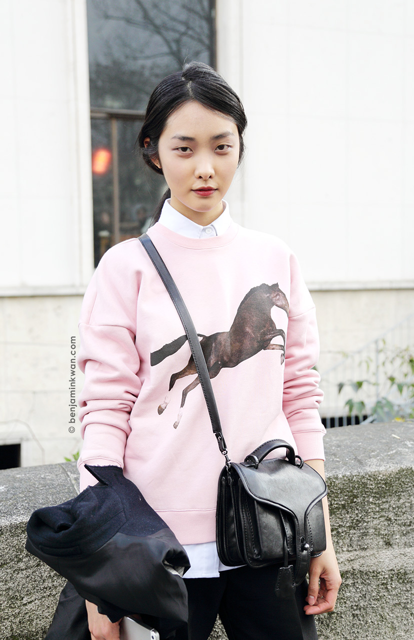 Kwak Ji Young at Veronique Leroy FW 2014/2015 Paris Snapped by Benjamin Kwan Paris Fashion Week