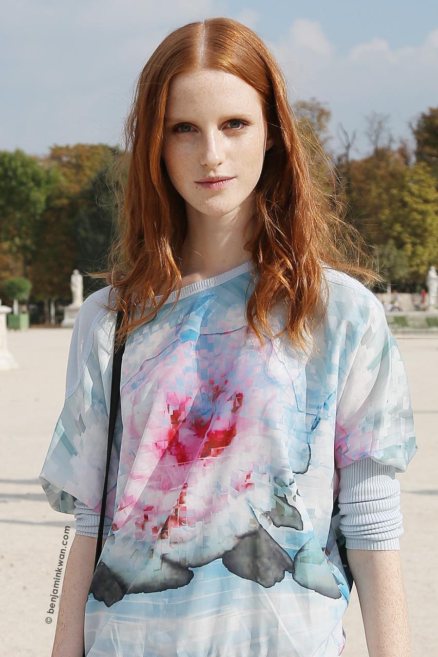 Magdalena Jasek at Valentino SS 2015 Paris Snapped by Benjamin Kwan Paris Fashion Week