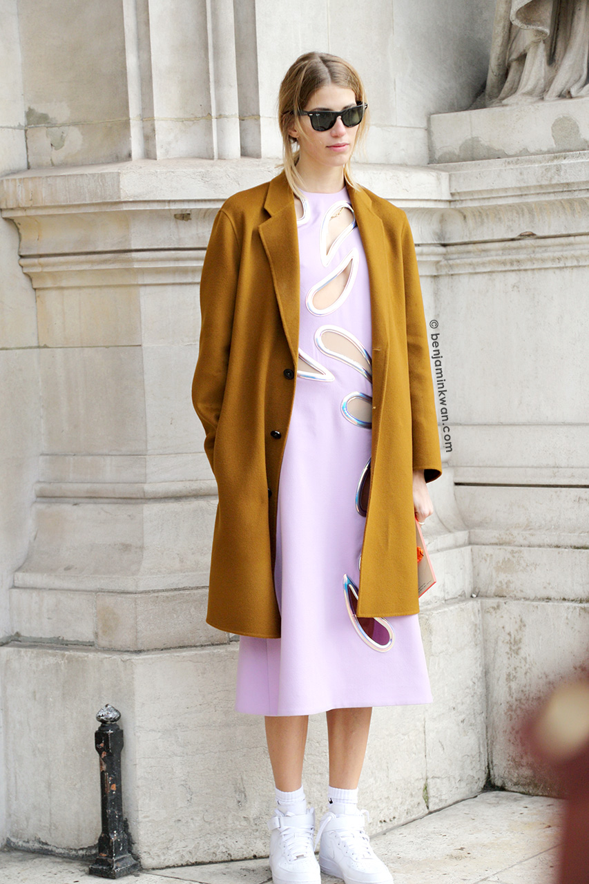 Veronika Heilbrunner at Stella McCartney FW 2014/2015 Paris Snapped by Benjamin Kwan     Paris Fashion Week