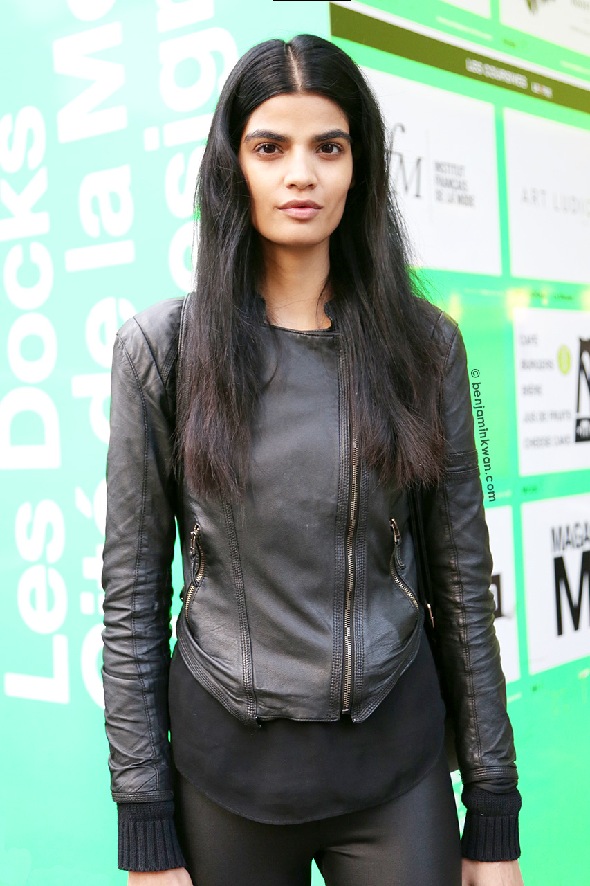 Bhumika Arora at Anthony Vaccarello SS 2015 Paris Snapped by Benjamin Kwan     Paris Fashion Week