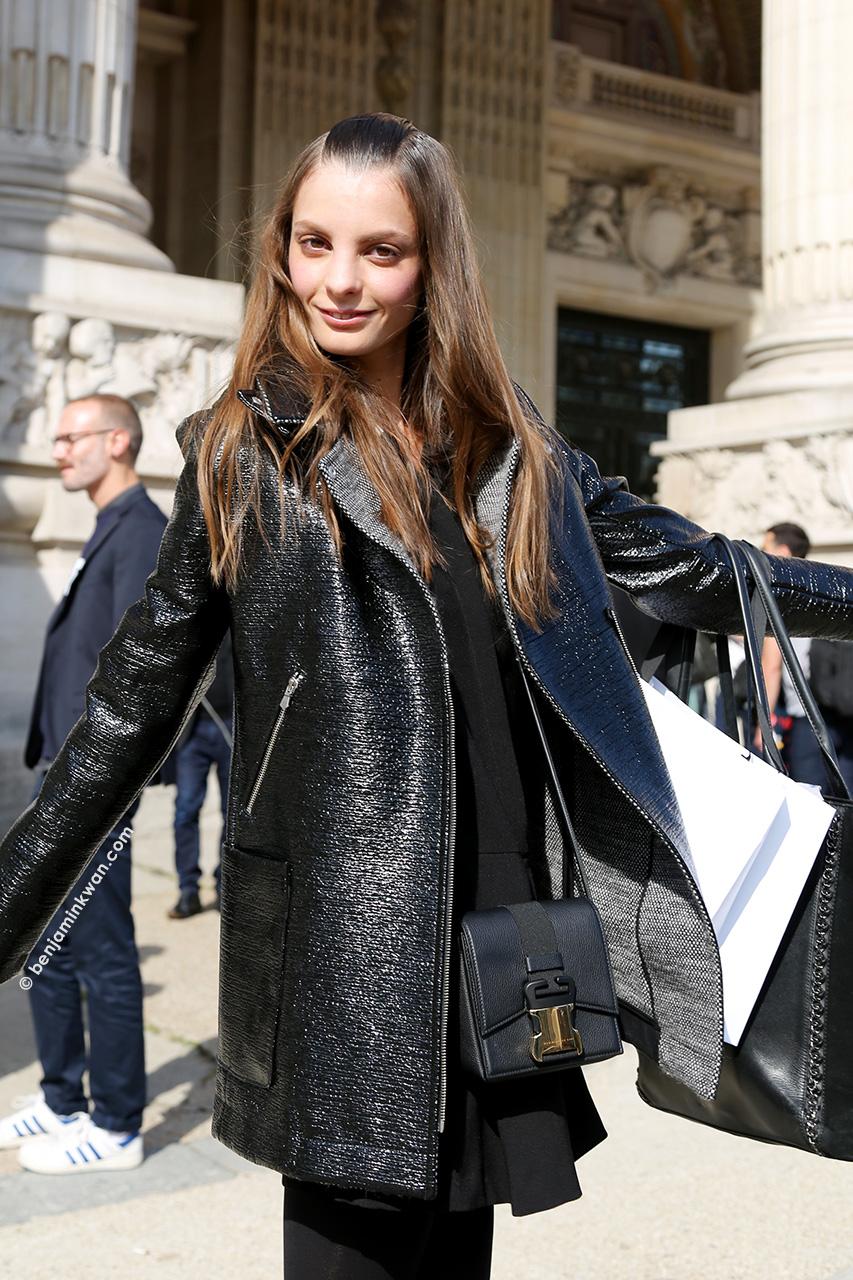 Audrey Nurit at Carven SS 2015 Paris Snapped by Benjamin Kwan Paris Fashion Week