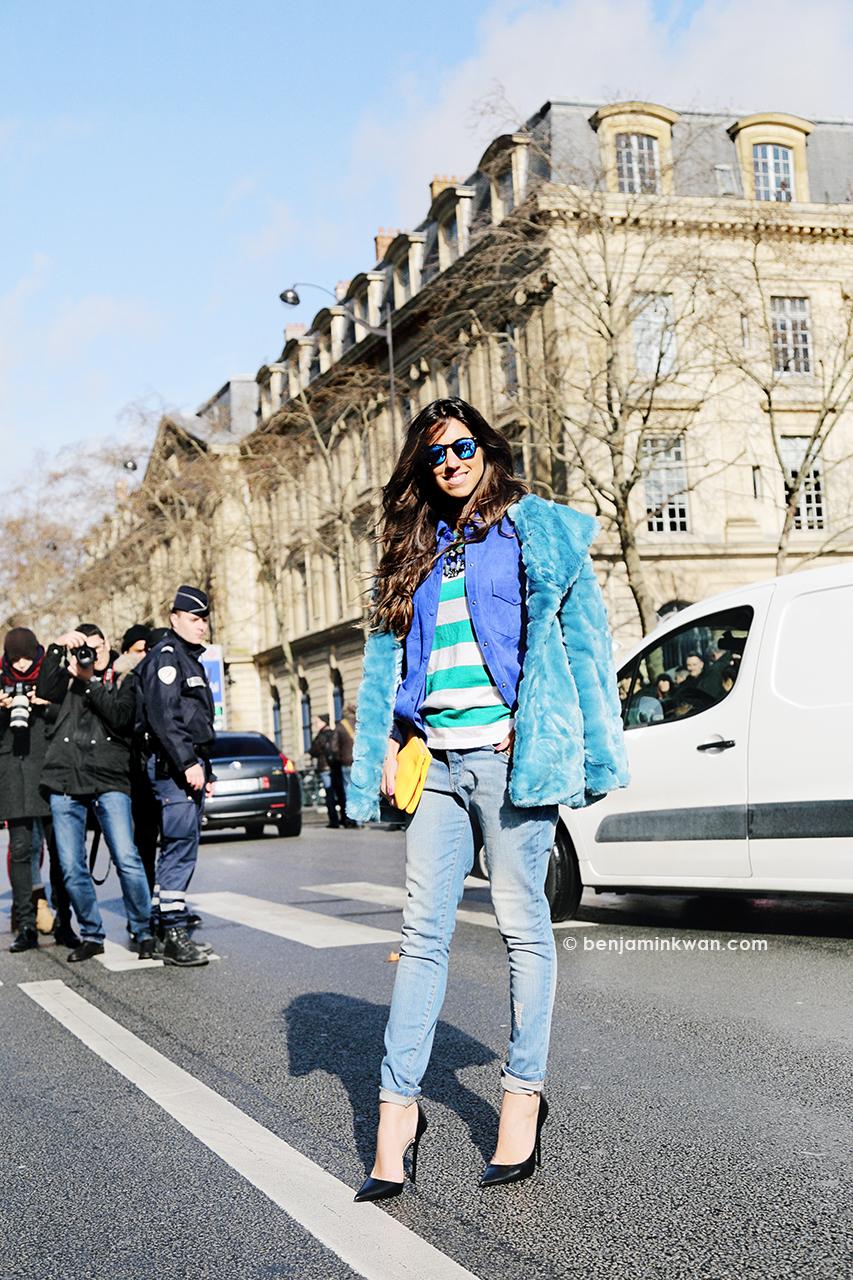 Viviana Volpicella at Balmain FW 2014 Paris Snapped by Benjamin Kwan Paris Fashion Week