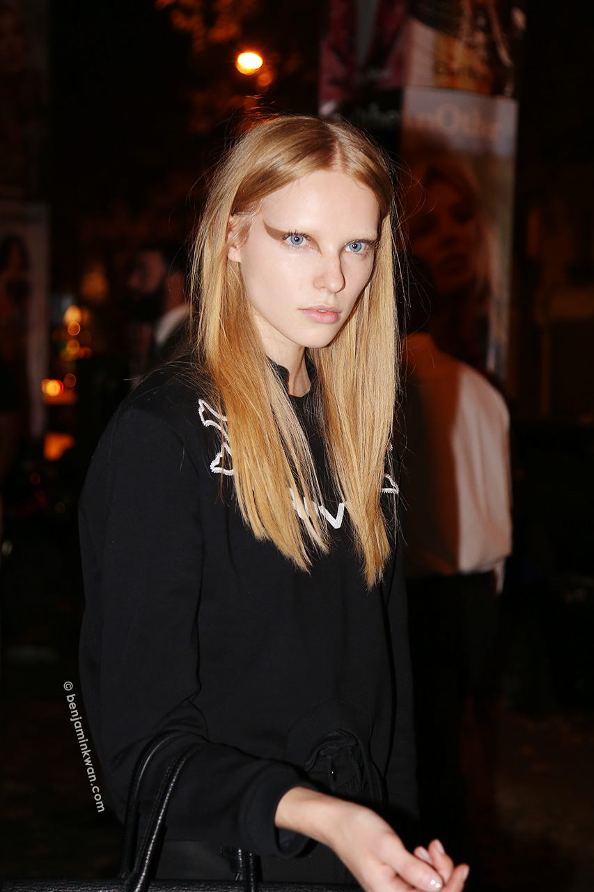 Nastya Zhidkikh at Givenchy SS 2015 Paris Snapped by Benjamin Kwan Paris Fashion Week