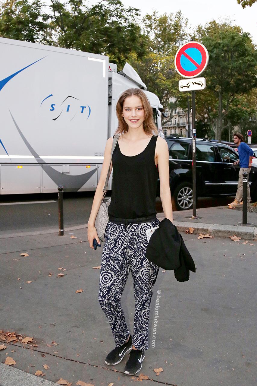 Alexandra Hochguertel at Paul & Joe SS 2015 Paris Snapped by Benjamin Kwan Paris Fashion Week
