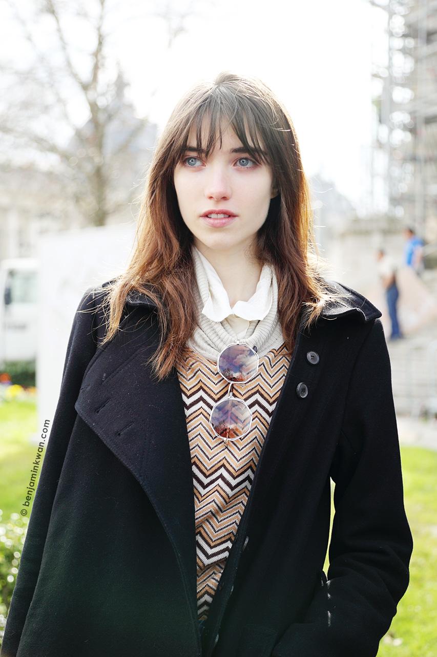 Grace Hartzel at Chanel FW 2014/2015 Paris Snapped by Benjamin Kwan Paris Fashion Week