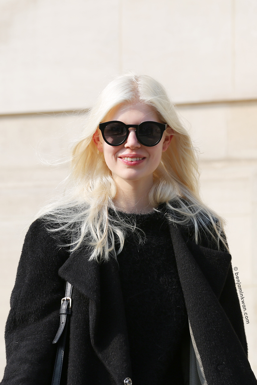 Ola Rudnicka at SS 2015 Paris Snapped by Benjamin Kwan Paris Fashion Week