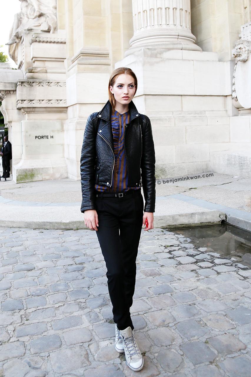 Lika Rzhevskaya at Shiatzy Chen SS 2015 Paris Snapped by Benjamin Kwan Paris Fashion Week
