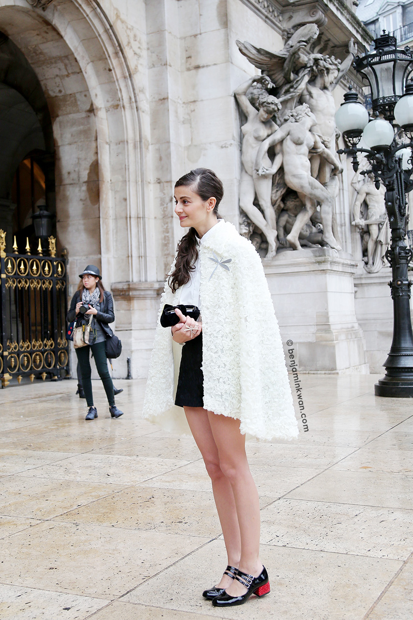 Natalia Alaverdian at Stella McCartney SS 2015 Paris Snapped by Benjamin Kwan Paris Fashion Week