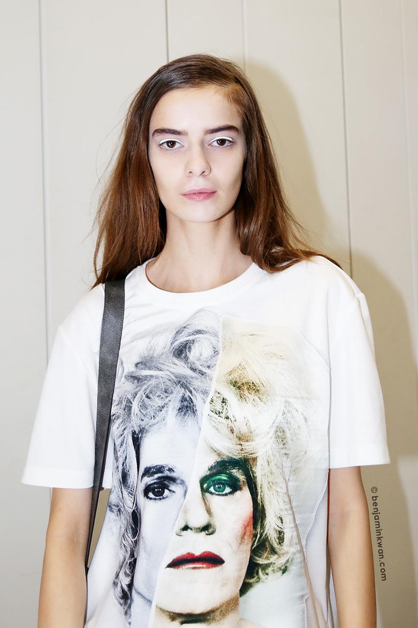 Ola Munik at Veronique Branquinho SS 2015 Paris Snapped by Benjamin Kwan     Paris Fashion Week