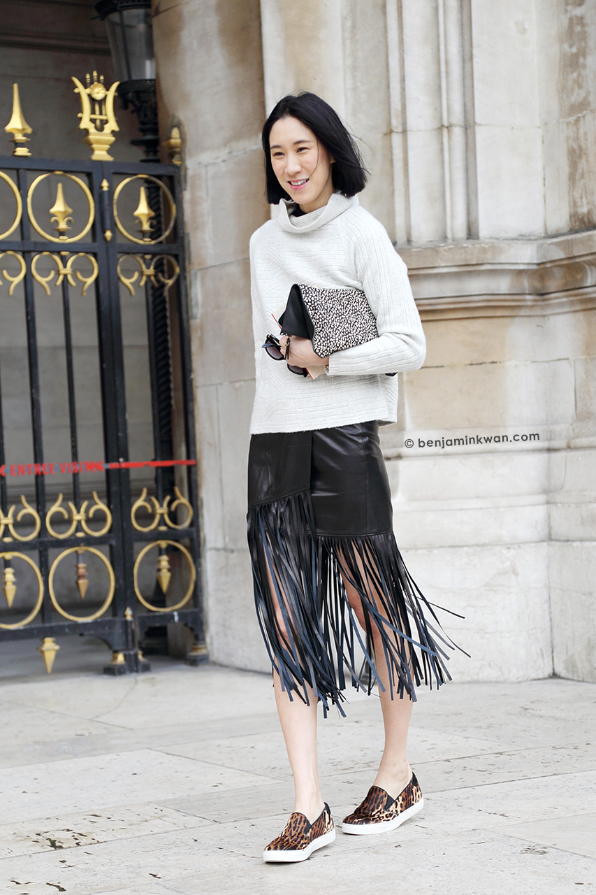 Eva Chen at Stella McCartney FW 2014/2015 Paris Snapped by Benjamin Kwan Paris Fashion Week