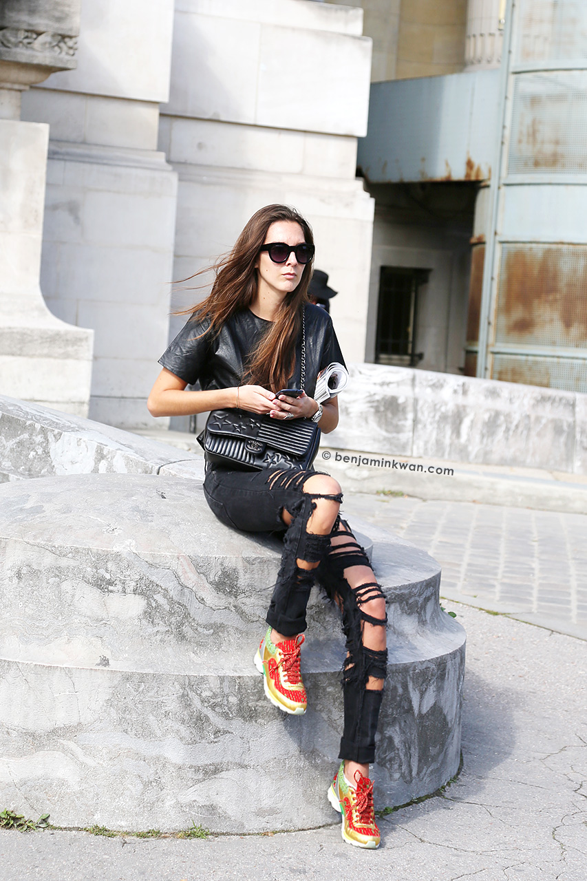 Estelle Pigault at Carven SS 2015 Paris Snapped by Benjamin Kwan     Paris Fashion Week