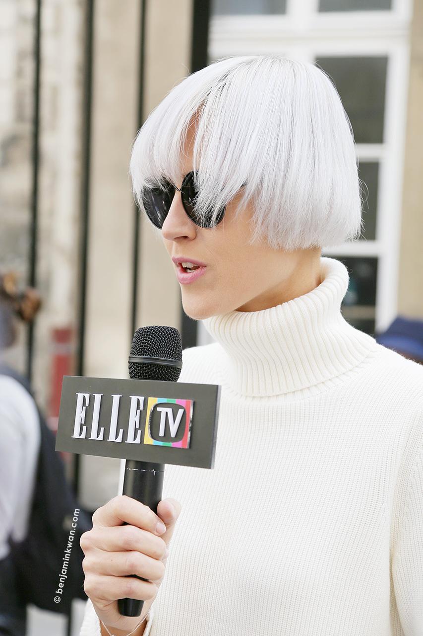 Linda Tol at Ann Demeulemeester SS 2015 Paris Snapped by Benjamin Kwan     Paris Fashion Week