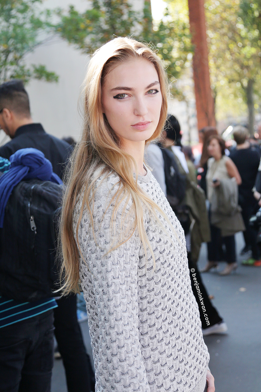 Taylor Nicole at Celine SS 2015 Paris Snapped by Benjamin Kwan     Paris Fashion Week
