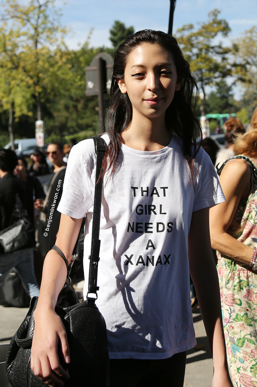 Issa Lish  at Celine SS 2015 Paris Snapped by Benjamin Kwan   Paris Fashion Week
