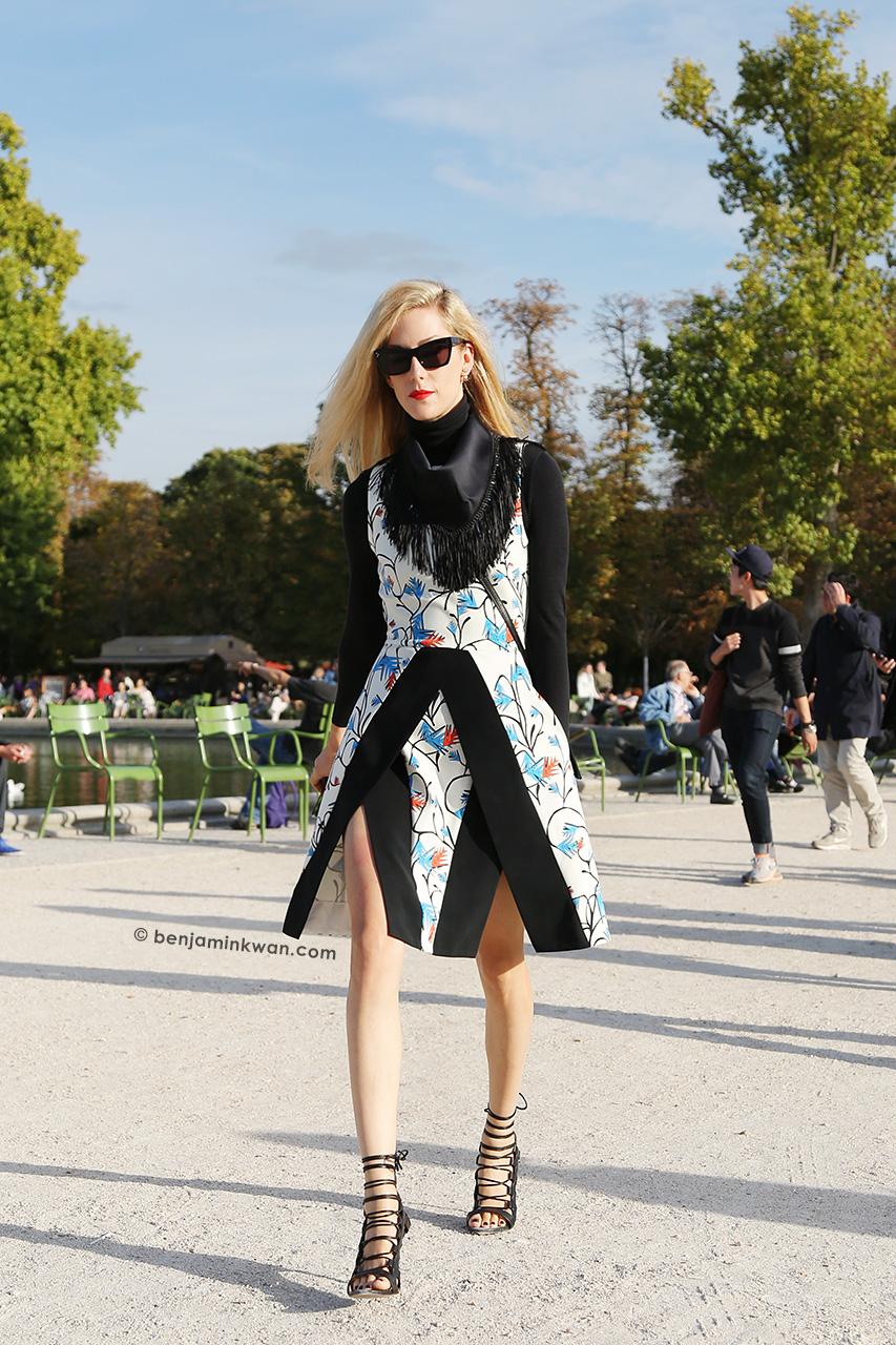 Joanna Hillman at Nina Ricci SS 2015 Paris Snapped by Benjamin Kwan Paris Fashion Week