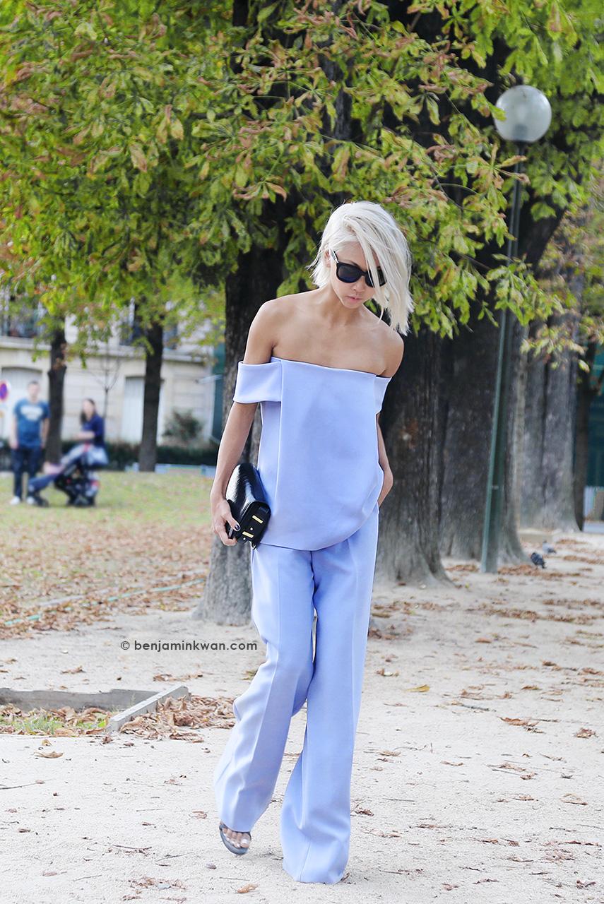 Vanessa Hong at Chloe SS 2015 Paris Snapped by Benjamin Kwan Paris Fashion Week
