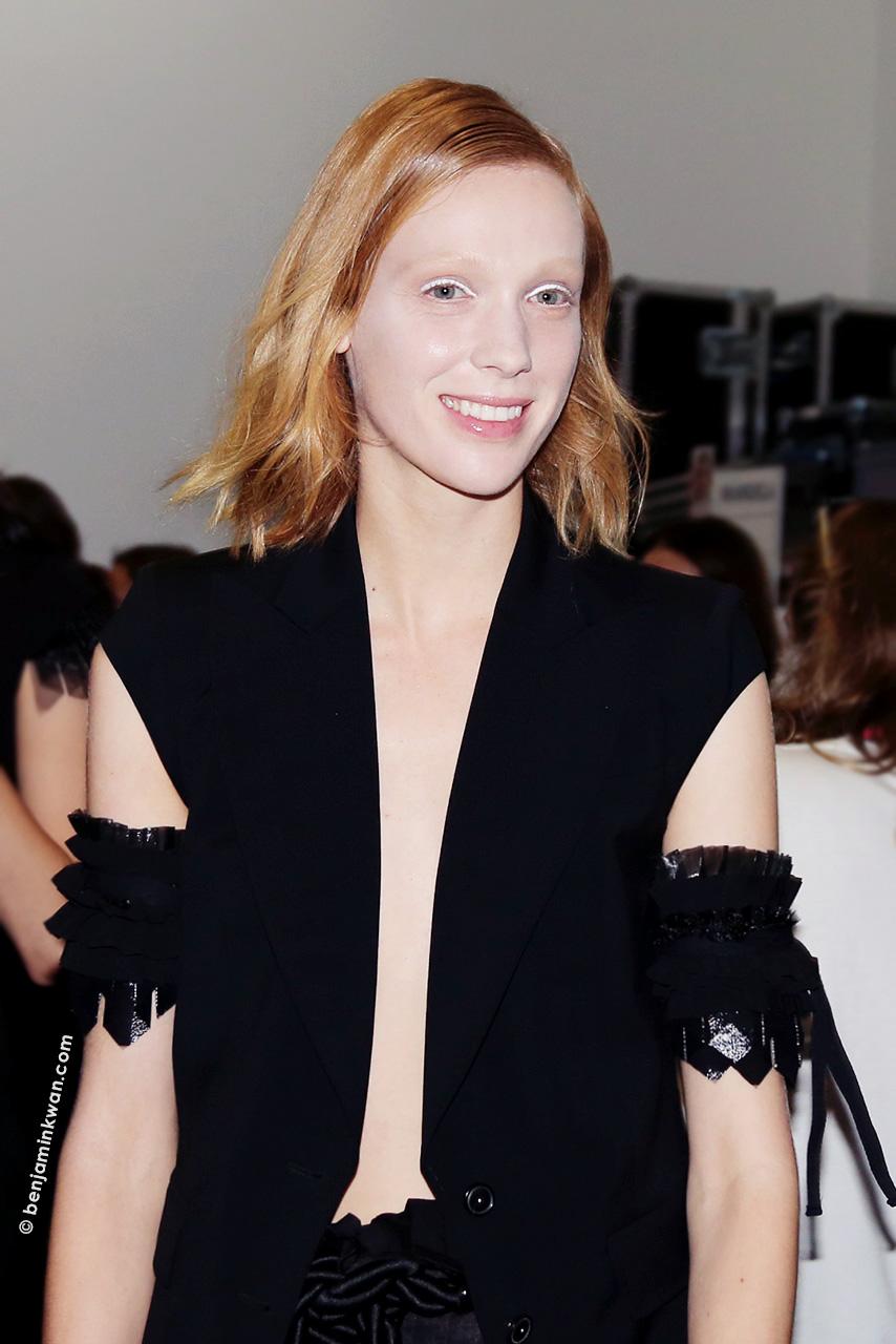 Annely Bouma at Veronique Branquinho SS 2015 Paris Snapped by Benjamin Kwan Paris Fashion Week