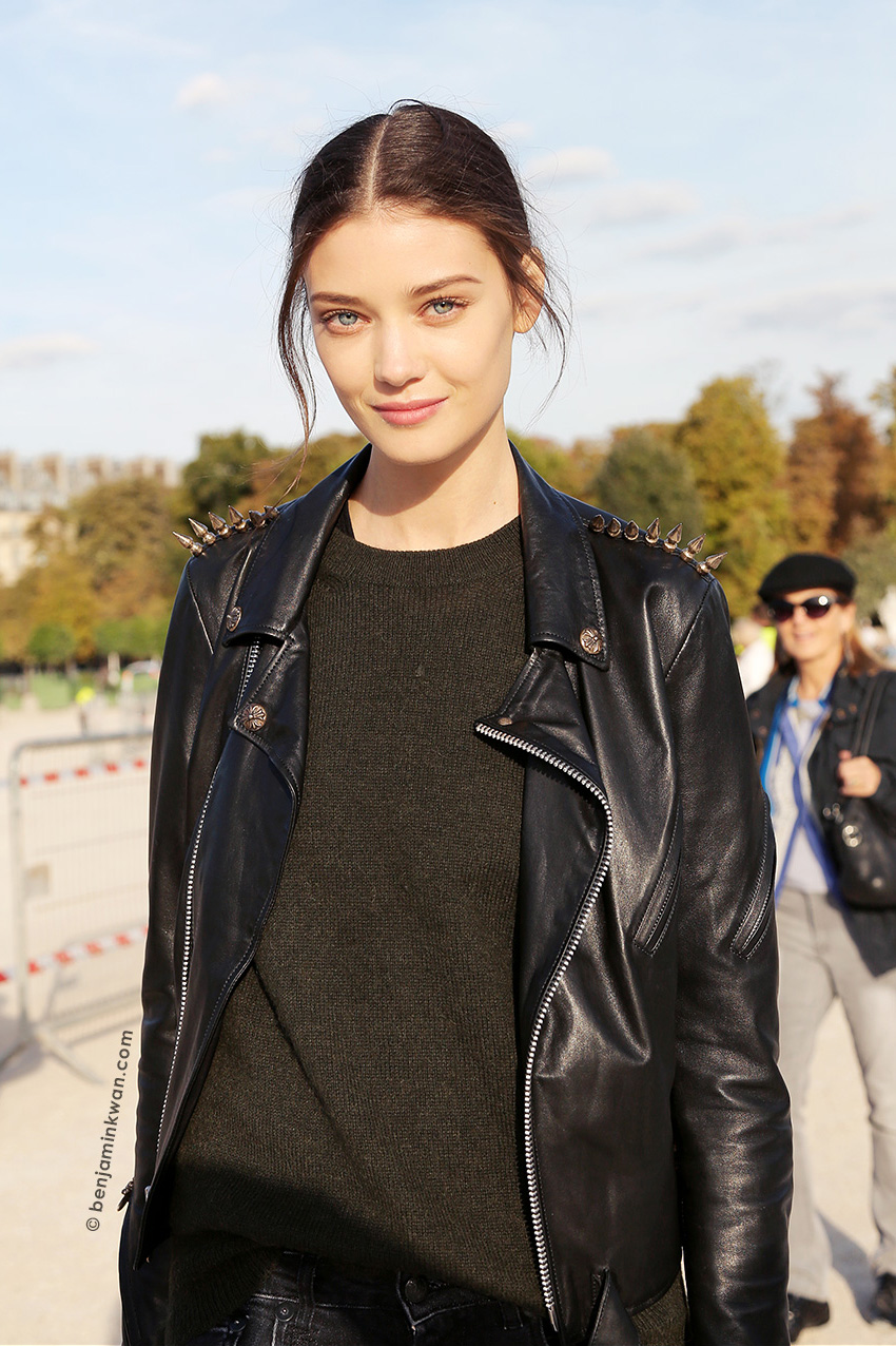 Diana Moldovan at Nina Ricci SS 2015 Paris Snapped by Benjamin Kwan     Paris Fashion Week