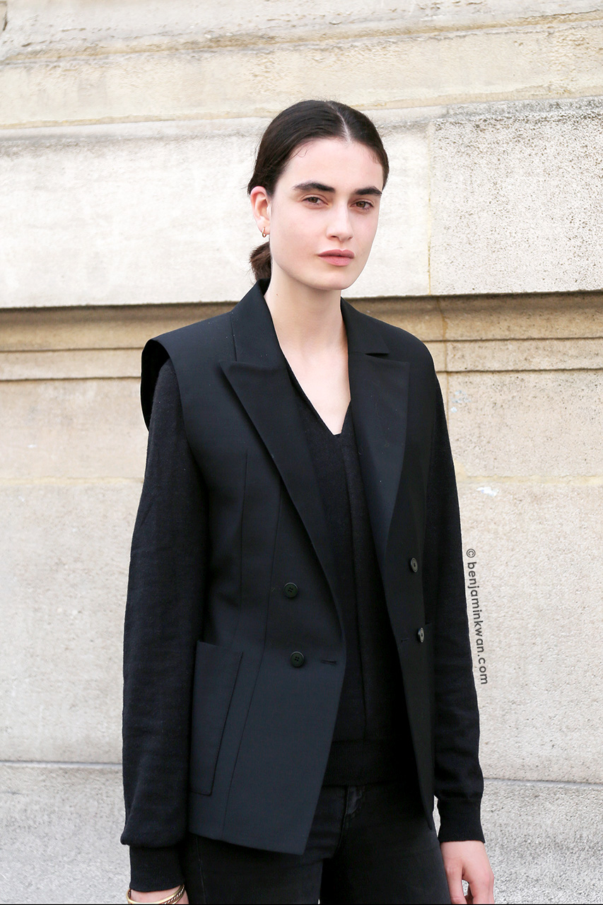 Pauline van der Cruysse at Ann Demeulemeester SS 2015 Paris Snapped by Benjamin Kwan Paris Fashion Week