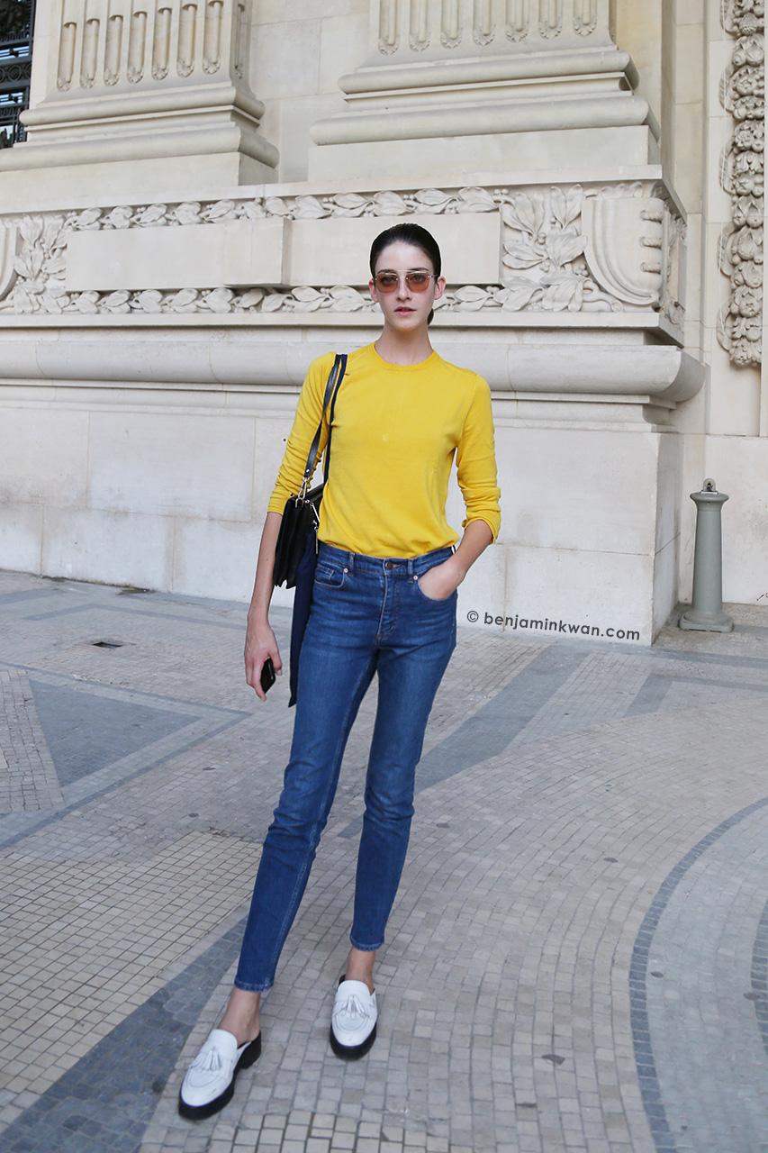 Cristina Herrmann at Shiatzy Chen SS 2015 Paris Snapped by Benjamin Kwan     Paris Fashion Week