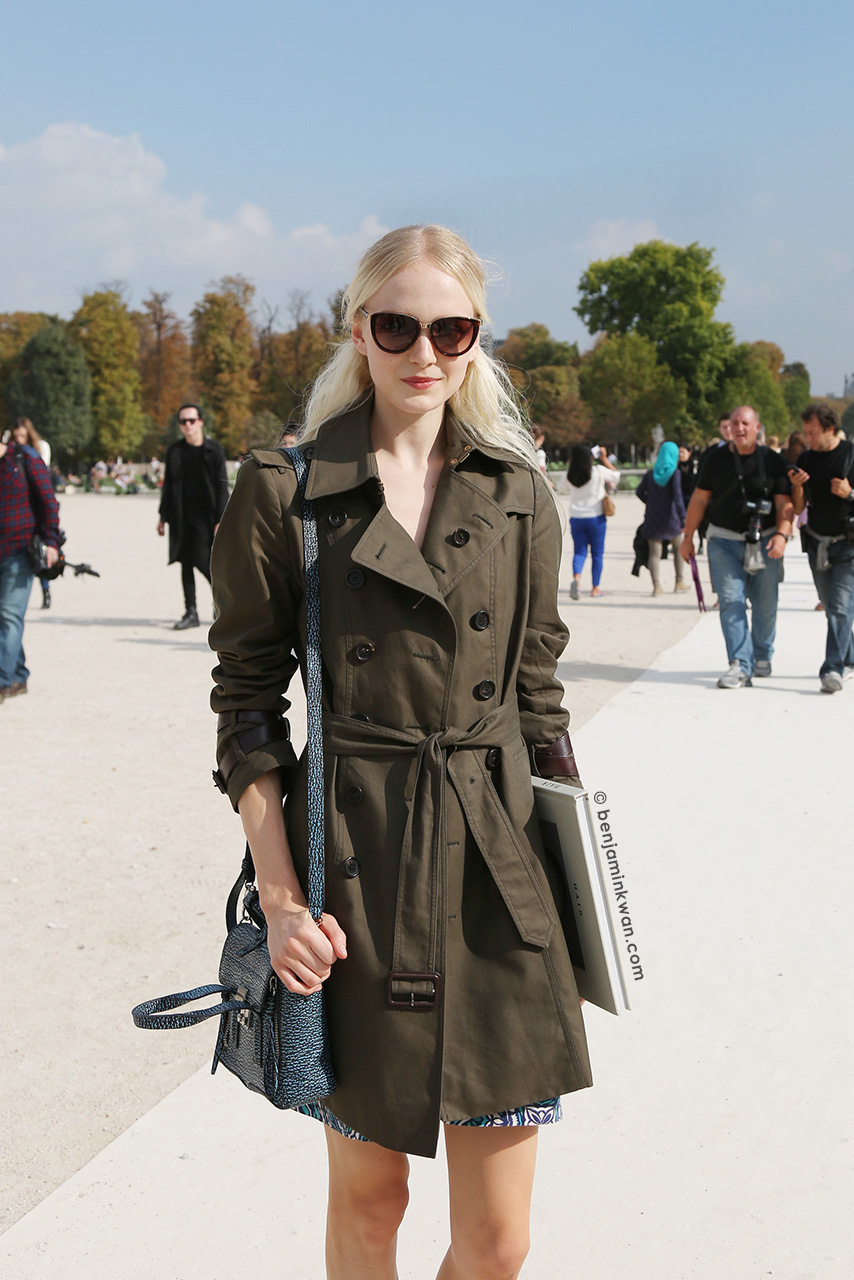 Maja Salamon at Valentino SS 2015 Paris Snapped by Benjamin Kwan Paris Fashion Week