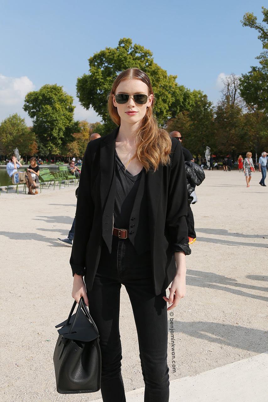 Julia Hafstrom at Valentino SS 2015 Paris Snapped by Benjamin Kwan     Paris Fashion Week