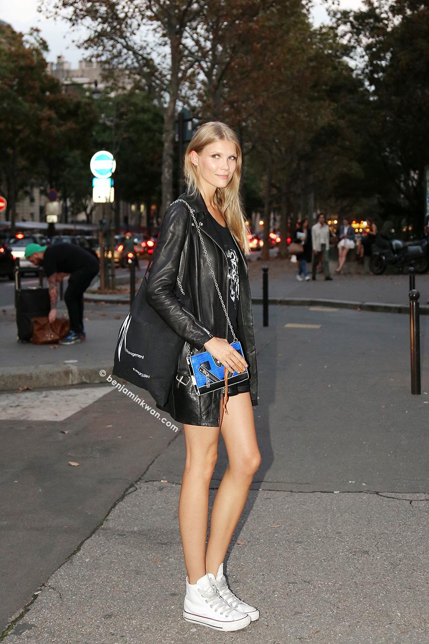 Inka Colliander at Paul & Joe SS 2015 Paris Snapped by Benjamin Kwan     Paris Fashion Week