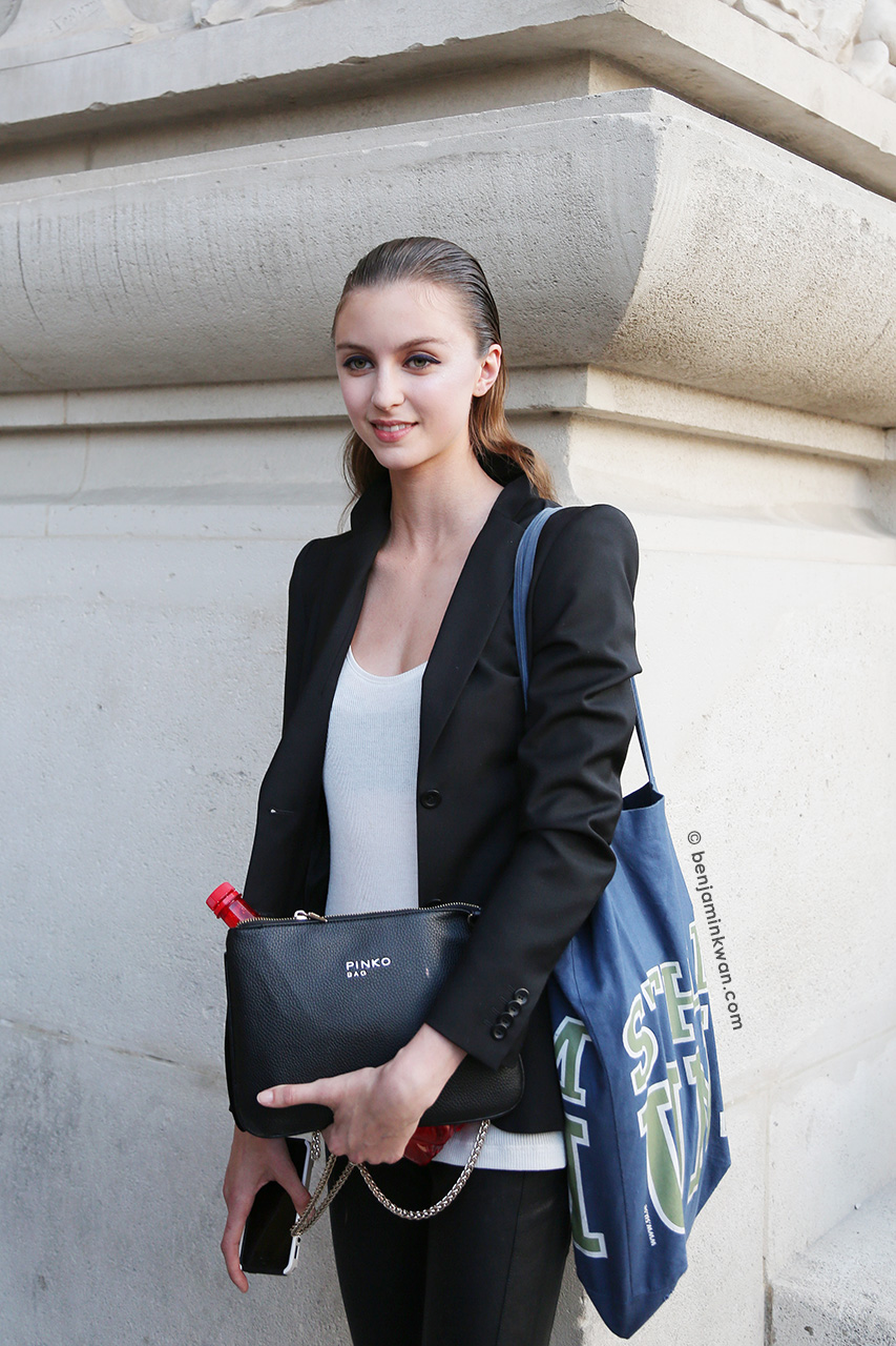 Towa Wahlin at Shiatzy Chen SS 2015 Paris Snapped by Benjamin Kwan     Paris Fashion Week