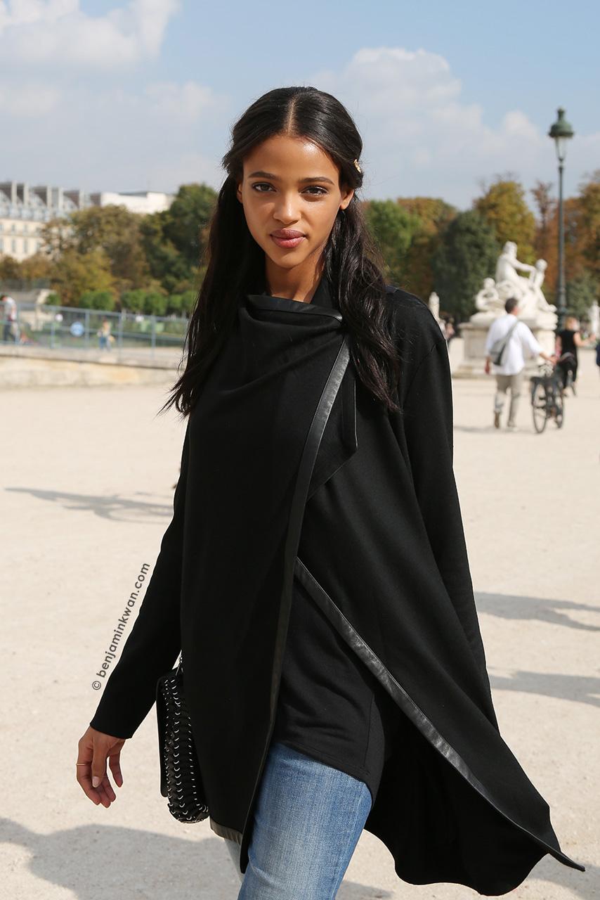Aya Jones at Valentino SS 2015 Paris Snapped by Benjamin Kwan Paris Fashion Week