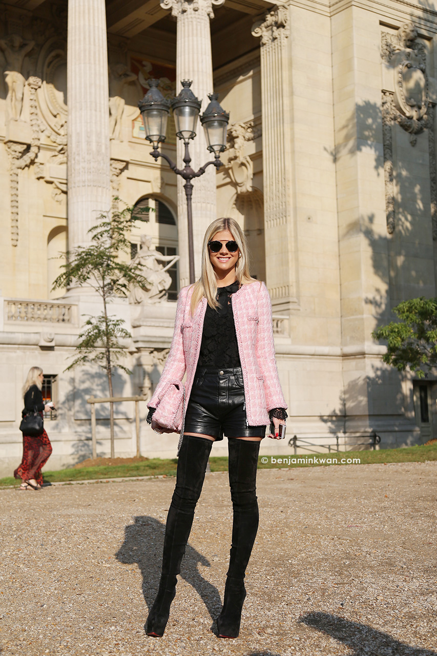 Lala Rudge at Chanel SS 2015 Paris Snapped by Benjamin Kwan Paris Fashion Week