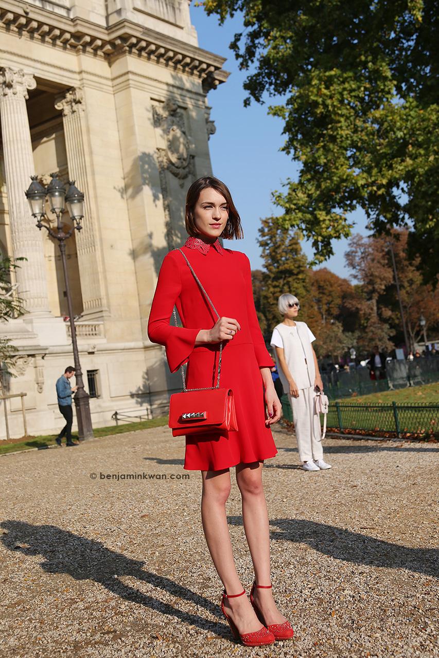 Ella Catliff at Chanel SS 2015 Paris Snapped by Benjamin Kwan Paris Fashion Week