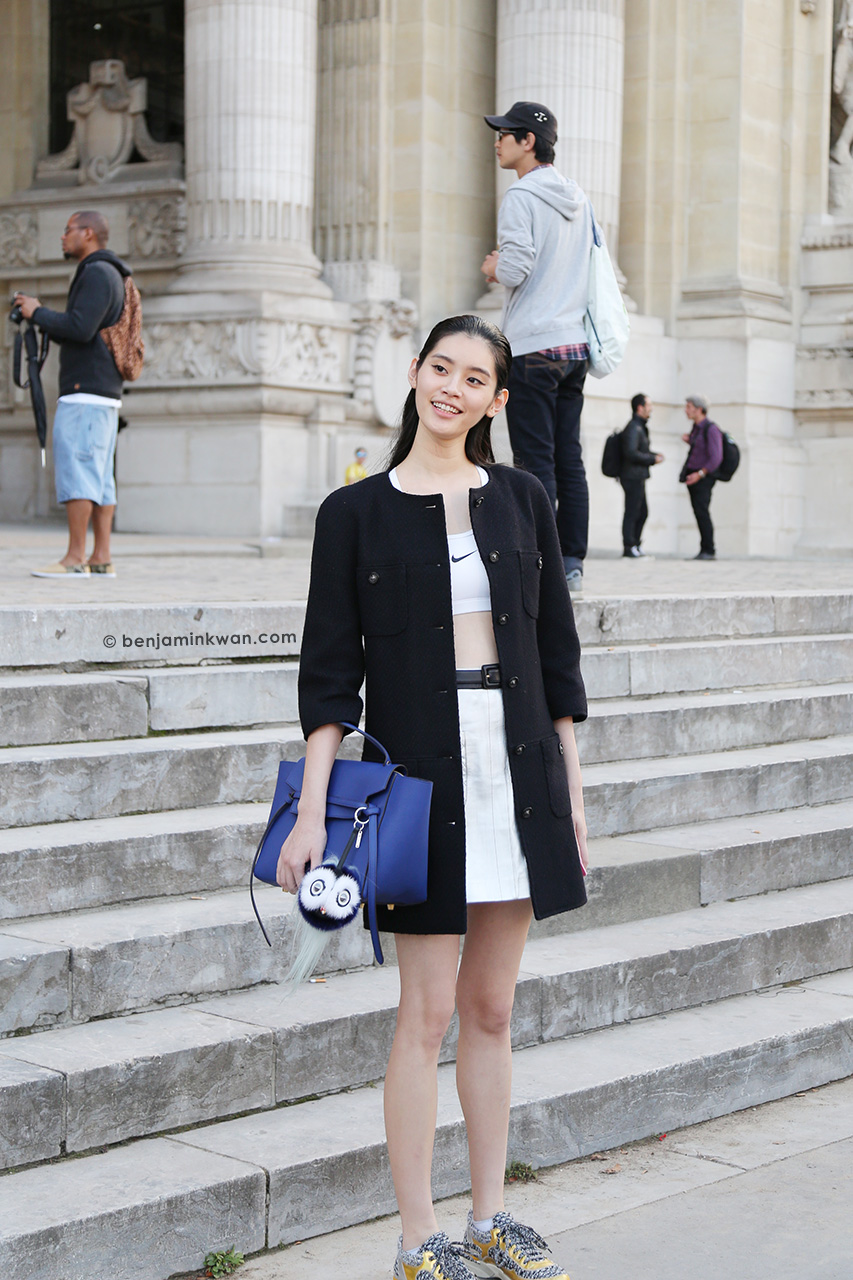 Ming Xi at Shiatzy Chen SS 2015 Paris Snapped by Benjamin Kwan     Paris Fashion Week