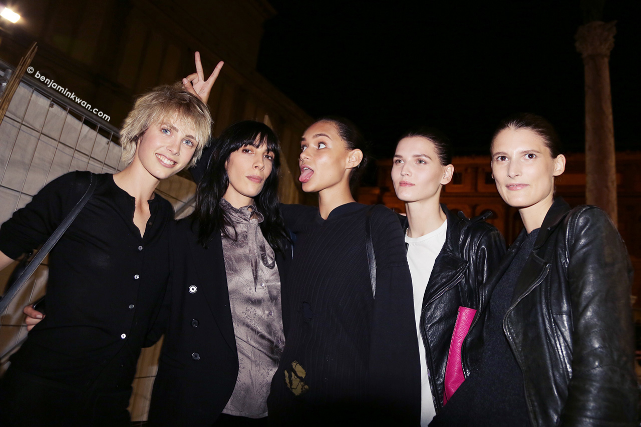 Edie Campbell, Jamie Bochert, Binx Walton, Katlin Aas & Marie Piovesan at Lanvin  SS 2015 Paris Snapped by Benjamin Kwan Paris Fashion Week