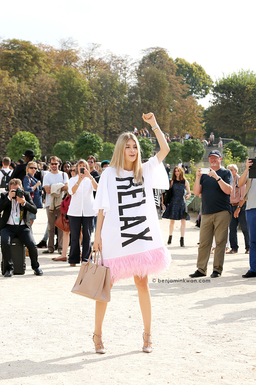Isabel Jaime at Valentino SS 2015 Paris Snapped by Benjamin Kwan     Paris Fashion Week