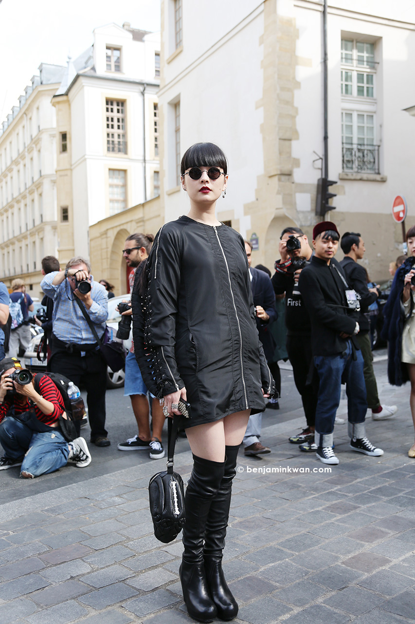Akimoto Kozue at Ann Demeulemeester SS 2015 Paris Snapped by Benjamin Kwan Paris Fashion Week