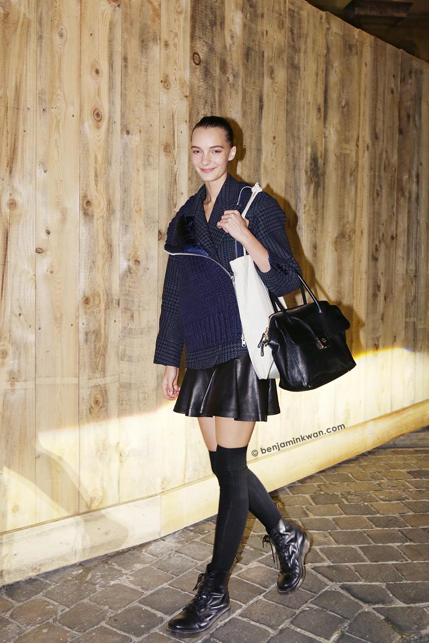 Irina Liss at Lanvin SS 2015 Paris Snapped by Benjamin Kwan Paris Fashion Week