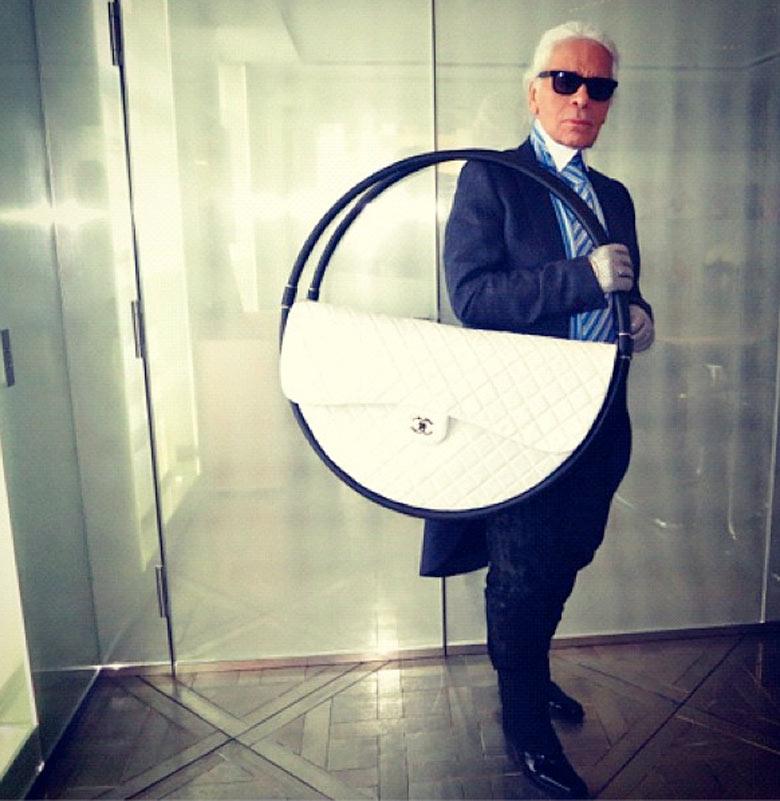 """The New IT Bag""   Karl Lagerfeld x Chanel Hula Hoop Beach Bag    Photo by Derek Blasberg"