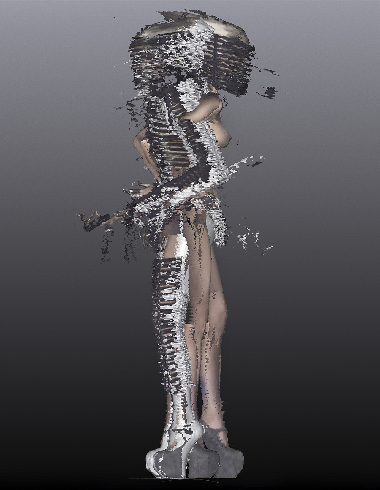 Daphne Guinness + Nick Knight + W Magazine   Frocks = Gareth Pugh
