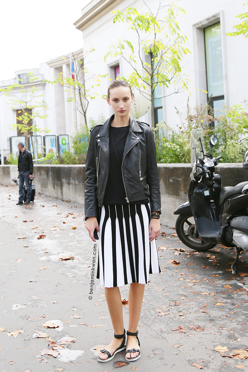 Alex Yuryeva at at Leonard SS 2015 Paris Snapped by Benjamin Kwan Paris Fashion Week