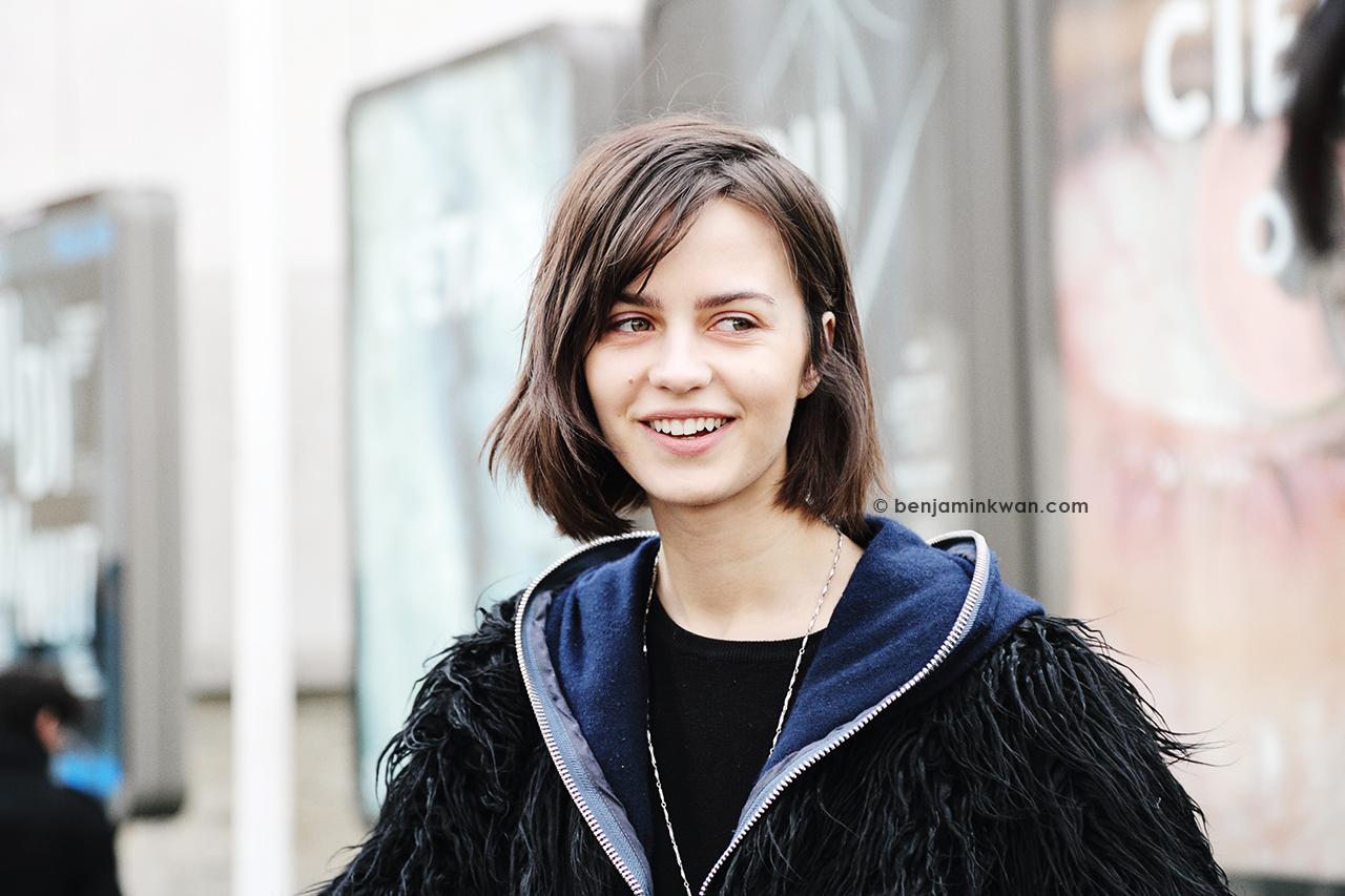 Marta Dyks at Leonard FW 2014 Paris Snapped by Benjamin Kwan Paris Fashion Week