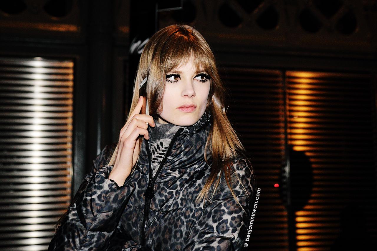 Caroline Brasch Nielsen at Saint Laurent FW 2014 Paris Snapped by Benjamin Kwan Paris Fashion Week