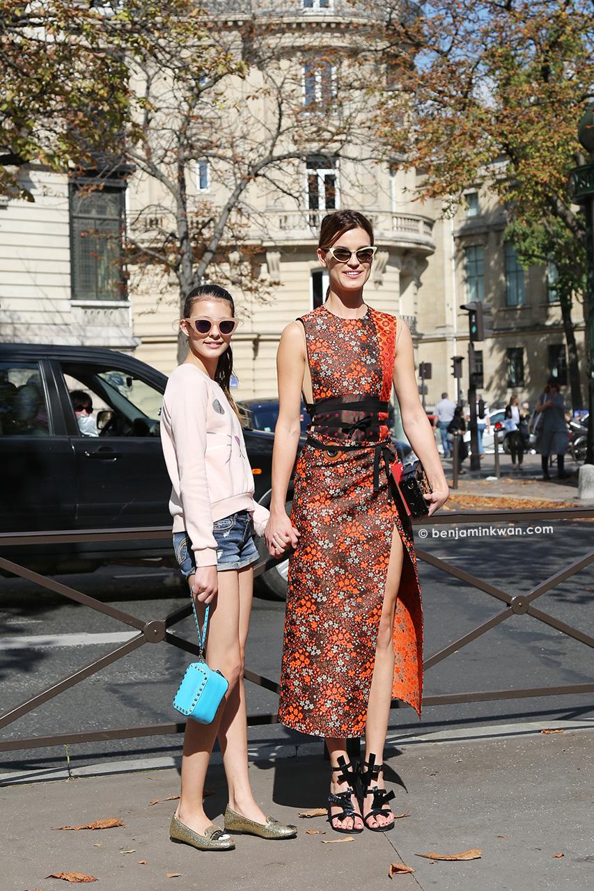 Marina and Hanneli Mustaparta at Miu Miu SS 2015 Paris Snapped by Benjamin Kwan Paris Fashion Week